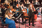 Deal Festival 2017_ Lucienne Renaudin Vary with the Purcell School Chamber Orchestra and Contemporary Ensemble. Held at St. George's Church Deal, Kent on Friday June 30th 2017.