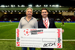 Bristol City Community Trust half-time draw winner - Mandatory by-line: Dougie Allward/JMP - 05/11/2016 - FOOTBALL - Ashton Gate - Bristol, England - Bristol City v Brighton and Hove Albion - Sky Bet Championship
