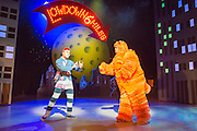 Christmas gold returns to Theatre Royal Stratford East this season, with a glittering, laugh-out-loud new production of Dick Whittington. Picture shows Ashley Gerlach (Dick Whittington) with Tony Jayawardena (Cool Cat)..