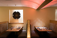 The dining room at Maru restaurant in Aspen.