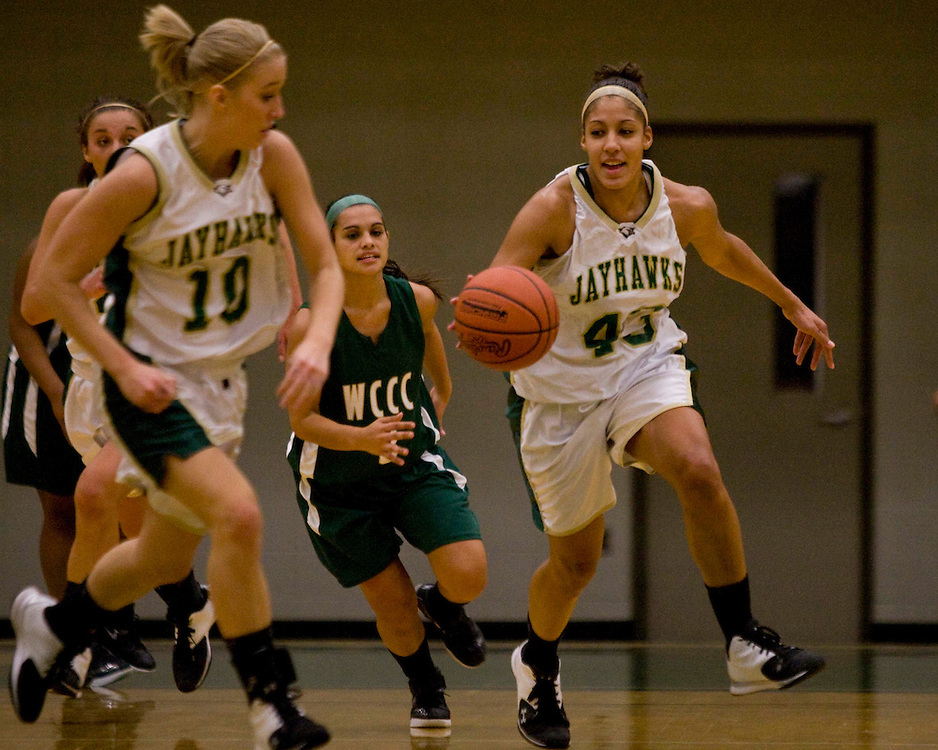 Jamestown Community College's Alicia Stebbins 12-2-11 photo by Mark L. Anderson