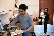 31 Gennaio 2016, La Spezia, Italia - Nooraddin Arian, 33 anni, con la moglie Qazizadah, 26anni e la figlia Neyaxash di 7 mesi.