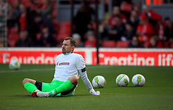 Liverpool's Jerzy Dudek during the Legends match at Anfield Stadium, Liverpool.