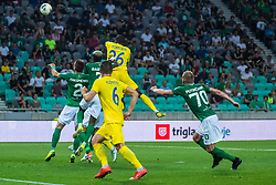 Shamar Amaro Nicholson of NK Domzale and Macky Frank Bagnack Mouegni of NK Olimpija during football match between NK Olimpija and NK Domzale in 2nd Round of Prva liga Telekom Slovenije 2019/20, on July 21st, 2019, in Stadium Stozice, Ljubljana, Slovenia. Photo by Grega Valancic / Sportida