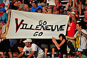 17-18 August, 2012, Montreal, Quebec, Canada.Fans supporting Jacques Villeneuve.(c)2012, Jamey Price.LAT Photo USA.