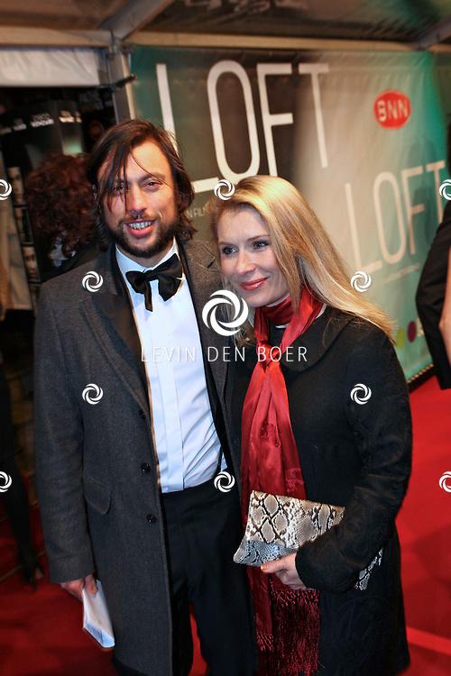 AMSTERDAM - Ellen van Rijn en vriend op de premiere van de film Loft dinsdag in Amsterdam. De film is vanaf 16 december in de Nederlandse bioscopen te zien. FOTO LEVIN DEN BOER - PERSFOTO.NU