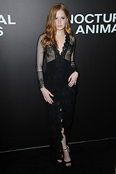 November 17, 2016 - New York, NY, USA - November 17, 2016  New York City..Ellie Bamber attending the 'Nocturnal Animals' premiere at The Paris Theatre on November 17, 2016 in New York City. (Credit Image: © Callahan/Ace Pictures via ZUMA Press)