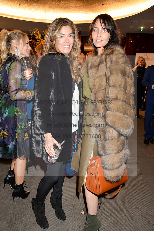 Left to right, SOPHIE STANBURY and JULIE BRANGSTRUP at a ladies lunch in aid of the charity Child Bereavement UK held at The Bulgari Hotel, 171 Knightsbridge, London on 25th February 2016.