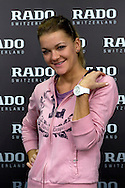 Adnieszka Radwanska gets new Rado watch before her training session at Mera Tennis Club in Warsaw, Poland.<br /> <br /> Poland, Warsaw, December 12, 2013<br /> <br /> Picture also available in RAW (NEF) or TIFF format on special request.<br /> <br /> For editorial use only. Any commercial or promotional use requires permission.<br /> <br /> Mandatory credit:<br /> Photo by © Adam Nurkiewicz / Mediasport