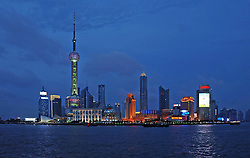 View of the Shanghai skyline from the Bund on the city's water front. (Photo © Jock Fistick)