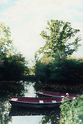 two rowing boats on a lake