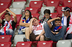 16.06.2012, Nationalstadion, Warschau, POL, UEFA EURO 2012, Griechenland vs Russland, Gruppe A, im Bild Fans of Russia look dejected // after the UEFA Euro 2012 Group A Match between Greece and Russia at the National Stadium Warsaw, Poland on 2012/06/16. EXPA Pictures © 2012, PhotoCredit: EXPA/ Sportida/ Vid Ponikvar..***** ATTENTION - OUT OF SLO *****