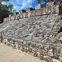 Sacred Ball Game Court at Mayan Ruins in Coba, Mexico<br />