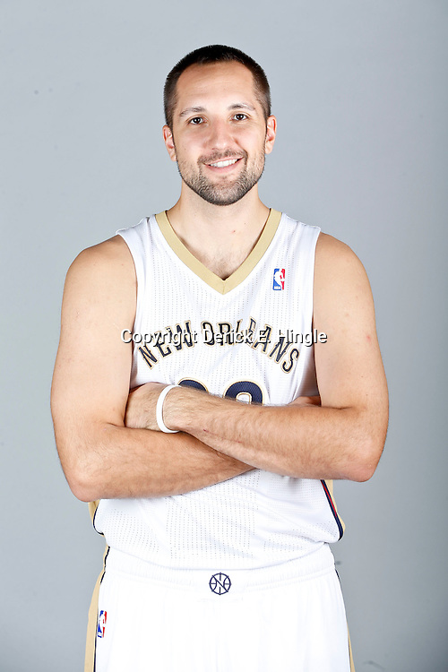 Sep 30, 2013; Metairie, LA, USA; New Orleans Pelicans power forward Ryan Anderson (33) poses for a portrait at Pelicans Practice Facility. Mandatory Credit: Derick E. Hingle-USA TODAY Sports