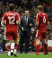 Photo: Paul Thomas/Sportsbeat Images.<br /> Liverpool v Besiktas. UEFA Champions League. 06/11/2007.<br /> <br /> Rafael Benitez, manager of Liverpool.
