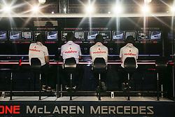 Motorsports / Formula 1: World Championship 2010, GP of Singapore, control center of Vodafone McLaren Mercedes