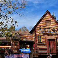 Frontierland Railroad Station at Magic Kingdom in Orlando, Florida<br />