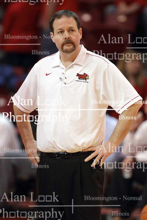 17 January 2015:   Athletic trainer John Munn during an NCAA MVC (Missouri Valley Conference men's basketball game between the Bradley Braves and the Illinois State Redbirds at Redbird Arena in Normal Illinois