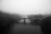Foggy morning on the Manayunk Bridge Philadelphia