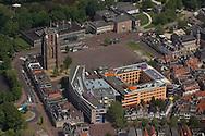 Oldehoofsterkerkhof in Leeuwarden met onder andere Oldehove, Stadskantoor,  Tresoar, Historisch Centrum Leeuwarden, Stadstoezicht en Politie Leeuwarden. Getoonde wegen zijn de Westerplantage, Torenstraat,  Botermarkt, Groeneweg, Heer Ivostraatje, Nieuwestad en Burmaniastraat.