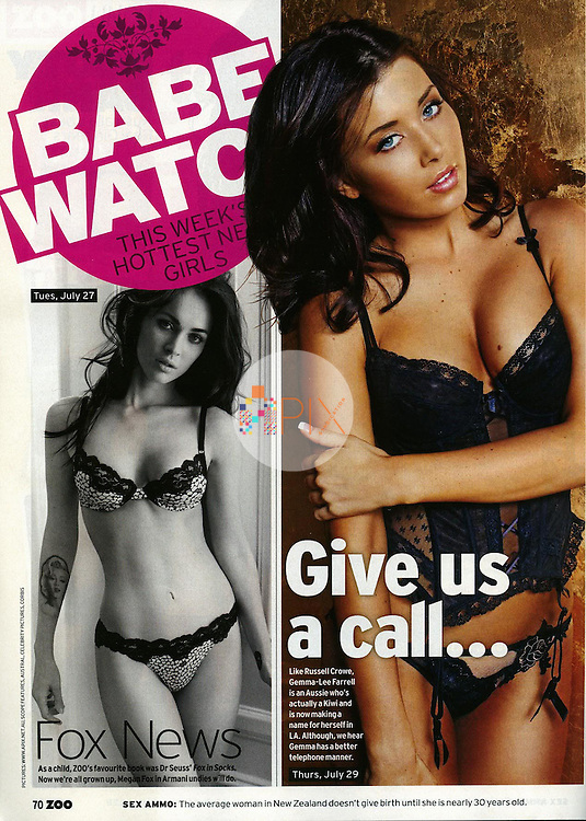 Gemma-Lee Farrell in ZOO WEEKLY Australia :: August 2011 Babewatch