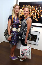 Left to right, NATHALIE BURGEN and WILLOW CORBETT-WINDER at an exhibition of photographs by David Montgomery entitled 'Shutterbug' held at Scream, 34 Bruton Street, London W1 on 13th July 2006.<br /><br />NON EXCLUSIVE - WORLD RIGHTS