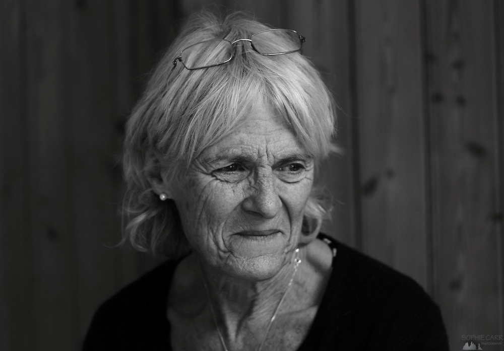 Portrait of my mother in black & white