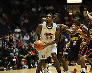 "Ole Miss' Aaron Jones (34) vs. Grambling State during the first half at the C.M. ""Tad"" Smith Coliseum in Oxford, Miss. on Monday, November 14, 2011.."
