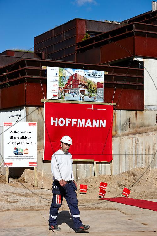 Farum Midtpunkt, bygning af plejecenter og seniorboliger, Hoffmann, KAB , første spadestik,