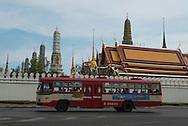 Thailand. Bangkok. Royal Palace area / quartier du Palais Royal