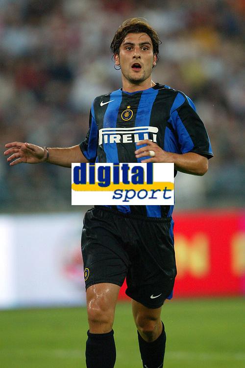 Bari 3/8/2004 Trofeo Birra Moretti - Juventus Inter Palermo. <br /> <br /> Nicola Ventola Inter<br /> <br /> Risultati / results (gare da 45 min. each game 45 min.) <br /> <br /> Juventus - Inter 1-0 Palermo - Inter 2-1 Juventus b. Palermo dopo/after shoot out <br /> <br /> Photo Andrea Staccioli