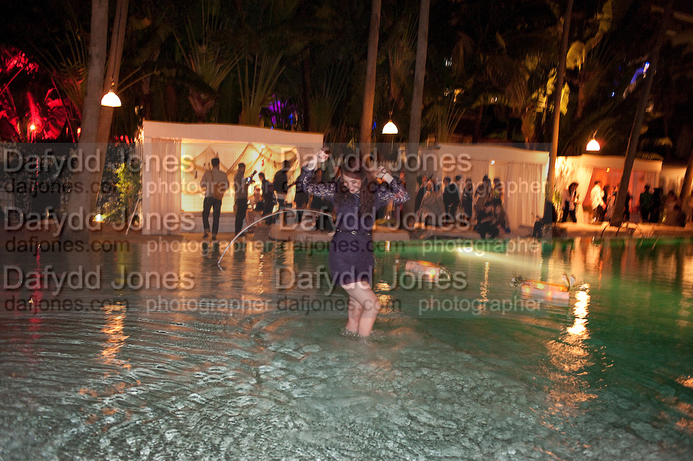 MICHELLE LANE; AGNES THOR, Visionaire party. Delano  Hotel.  Miami Art Basel 2011. 2December 2011.