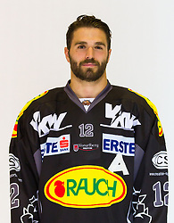 29.08.2012, Messestadion, Dornbirn, AUT, EBEL, Spielerportraits, Dornbirner Eishockey Club, im Bild Nicolas Petrik, (Dornbirner Eishockey Club, #12)// during Dornbirner Eishockey Club Player Portrait Session at the Messestadion, Dornbirn, Austria on 2012/08/29, EXPA Pictures © 2012, PhotoCredit: EXPA/ Peter Rinderer