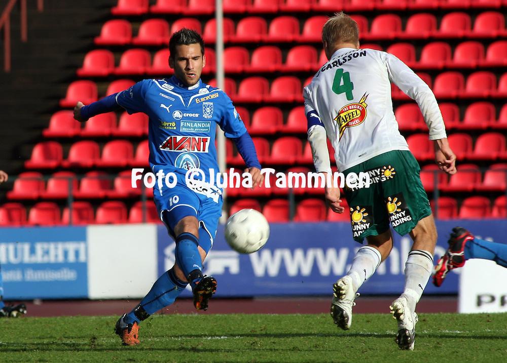 12.09.2009, Ratina, Tampere, Finland..Veikkausliiga 2009 - Finnish League 2009.Tampere United - IFK Mariehamn.Tomi Petrescu - TamU.©Juha Tamminen.