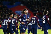 Edinson Roberto Paulo Cavani Gomez (psg) (El Matador) (El Botija) (Florestan) scored a new goal, celebration, Neymar da Silva Santos Junior - Neymar Jr (PSG), Javier Matias Pastore (psg), Adrien Rabiot (psg), Angel Di Maria (psg), Marco Verratti (psg), Daniel Alves da Silva (PSG), Yuri Berchiche (PSG) during the French Championship Ligue 1 football match between Paris Saint-Germain and FC Nantes on November 18, 2017 at Parc des Princes stadium in Paris, France - Photo Stephane Allaman / ProSportsImages / DPPI