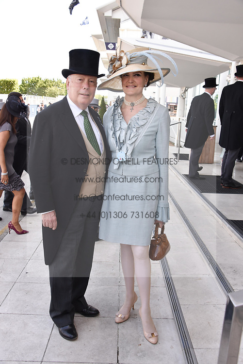 Lord & Lady Fellowes at the 2d day of The Investec Derby Festival - Derby Day, Epsom Racecourse, Epsom, Surrey, UK. 01 June 2019.