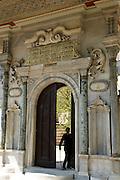Entrance to the gardens of Haghia Sophia (Aya Sofya), The Church of Holy Wisdom, Sultanahmet.