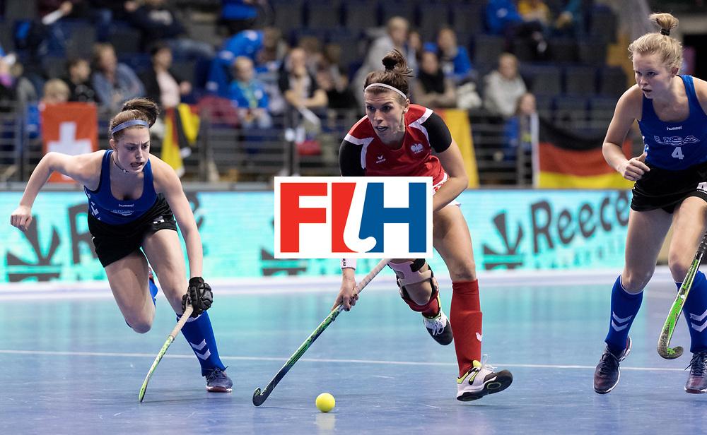BERLIN - Indoor Hockey World Cup<br /> Women: Poland - USA<br /> foto: WISNIEWSKA Natalia.<br /> WORLDSPORTPICS COPYRIGHT FRANK UIJLENBROEK