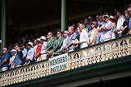 Members stand during the national anthem at the 4th Cricket Test Match between Australia and India at The Sydney Cricket Ground in Sydney, Australia on 03 January 2019.