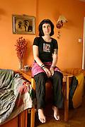 29.06.2006 Warsaw Poland. Sylwia Chutnik chairman of MaMa foundation in her apartment. Photo Piotr Gesicki
