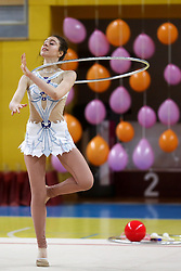 Eva Stella Csanadi of Hungary at rhythmic gymnastics for 15th Slovenian Challenge Tournament 2013, on November 16, 2013, in Dvorana Sentvid, Ljubljana, Slovenia. (Photo by Matic Klansek Velej / Sportida.com)