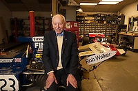 John Surtees, CBE, (11 February 1934 – 10 March 2017) the famous Formula 1 driver and motorcycle driver who became a legend by becoming world championship in Formula One once (1964) 4 times as motorcycle racer. Photographed at home in December 2013.