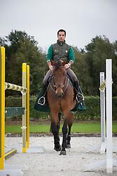 At home with Kamal Bahamdan (KSA) and Cezanne<br /> Tops Stables - Valkenswaard 2012<br /> © Dirk Caremans