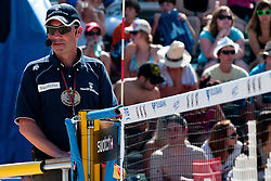 Slovenian referee Antone Pevc at A1 Beach Volleyball Grand Slam tournament of Swatch FIVB World Tour 2011, on August 3, 2011 in Klagenfurt, Austria. (Photo by Matic Klansek Velej / Sportida)