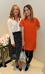 SARAH-JANE MEE and KELLY EASTWOOD at a party to celebrate the collaboration of J&M Davidson and Tanya Lingheld at J&M Davidson, 104 Mount Street, London on 18th October 2016.