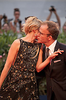Sunrise Coigney and director Thomas McCarthy at the gala screening for the film Spotlight at the 72nd Venice Film Festival, Thursday September 3rd 2015, Venice Lido, Italy.