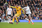 Fulham defender Ryan Sessegnon (30) battles for possession with Preston North End attacker Aiden McGeady (14) during the EFL Sky Bet Championship match between Fulham and Preston North End at Craven Cottage, London, England on 4 March 2017. Photo by Matthew Redman.