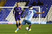 Portsmouth midfielder Tom Naylor plays a pass during the EFL Sky Bet League 1 match between Coventry City and Portsmouth at the Trillion Trophy Stadium, Birmingham, England on 11 February 2020.