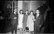 13/11/1967<br /> 11/13/1967<br /> 13 November 1967<br /> Leather Fashions at the Gresham Hotel, Dublin.<br /> Pictured at the event L-R: Mr. N.R.P. Roberts; Mrs Paddy McMahon; Mrs. Neville Walters; Mrs Lilienstein and Mr. Neville Walters.