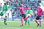 Backheel flick by Scott Sinclair during the Ladbrokes Scottish Premiership match between Hibernian and Celtic at Easter Road, Edinburgh, Scotland on 10 December 2017. Photo by Kevin Murray.